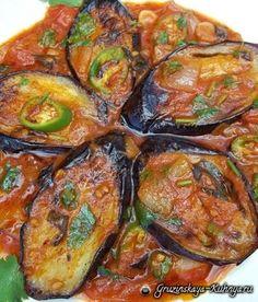 Баклажаны с зеленью и помидорами по-грузински (6)