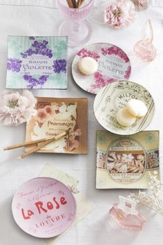 For the Francophile: French Perfume Decoupage trays