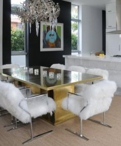 Gold & Shag...This would have totally been my go to style for my Miami home in the late 70's early 80's. Still HOT!
