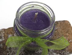 Hand Poured Violet Lime Scented Layered Palm Wax by curiouscarrie, $9.00