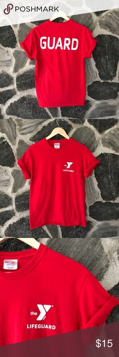"vtg | red ymca lifeguard graphic t-shirt Vintage red YMCA Lifeguard t-shirt Size medium; true to size Great condition; no flaws or defects Still bright red, relaxed and comfortable. Broken in.  —— *** CHRISTMAS CLEARANCE !!! *** • ALL RED OR GREEN COLORED ITEMS ARE 40% OFF CURRENT PRICE • ALL OTHER ITEMS ARE 20% OFF CURRENT ""' ****PRICES ARE NOT DISCOUNTED YET.. comment or send me an offer and I'll reply!***  #christmas #shopping #sale #discount #bogo #gift #present #holiday #clearance #ymca…"