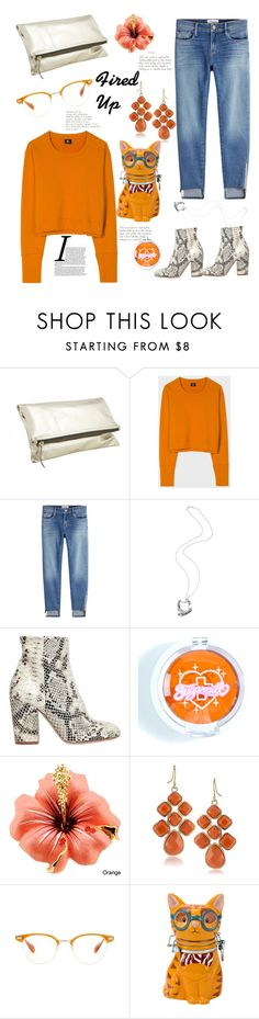 """""""Fired Up"""" by felicitysparks ❤ liked on Polyvore featuring Paul Smith, Frame, Felice Dahl, Strategia, Sugarpill, 1st & Gorgeous by Carolee, Oliver Peoples and Boston Warehouse"""