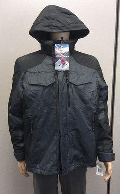 Just $69.99 !! ZeroXposur 3-in-1 Amped Men's Winter Jacket Hooded NEW/NWT LARGE $200 RET Gray #ZeroXposur #WinterPufferJacketParka