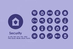 Security simple icons by Palau on Creative Market