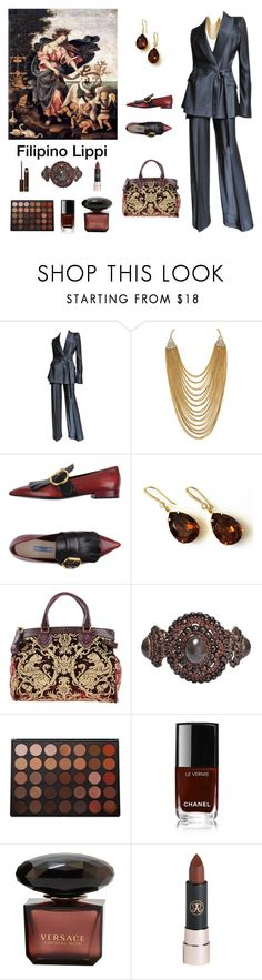 """Filipino Lippi Inspired - *see description"" by scolab ❤ liked on Polyvore featuring John Galliano, Palm Beach Jewelry, Prada, Roberto Cavalli, Morphe, Anastasia Beverly Hills and Tom Ford"