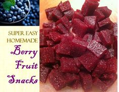 #Berry Fruit #Snacks for #Kids | Homemade treats makes childhood memories. A crowd pleaser as it is, it's an honesty food that needs only four ingredients! You will love making this for your kids at home today!  Enjoy!!