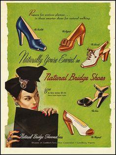 Shoe Ad, 1949 by dovima_is_devine_II, via Flickr