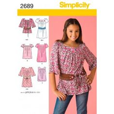 Tunic pattern for a girl   2689 - Simplicity Patterns