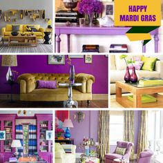 Happy Mardi Gras! We're celebrating with some purple, green and yellow décor!!