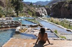 Hotel & Spa Termas Cacheuta. Located in the Andes Mountains near Mendoza. I went here in 2010 and it was LOVELY. Can't wait to go back.