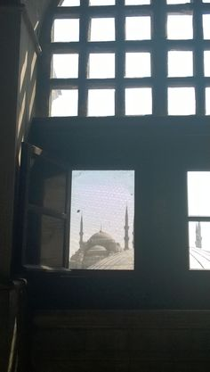 A view of the Blue Mosque from inside the Hagia Sophia, İstanbul.