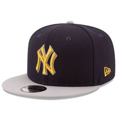 Men s New York Yankees New Era Navy Gray Title Turn 9FIFTY Adjustable  Snapback Hat 85cb201de34