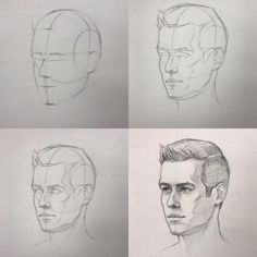 how to draw realistic faces using pencils! drawings cartoons Gesicht Zeichnen - Step by Step Tutorial Drawing Heads, Guy Drawing, Drawing People, Drawing Faces, Figure Drawing, Drawing Step, Female Drawing, Art Faces, Pencil Art Drawings
