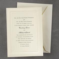 Royal 100% Cotton Paneled - Ecru - Invitation available through www.JaniceBlackmonEvents.carlsoncraft.com