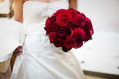 red and black bridal bouquet   Red & Burgundy Wedding Bouquets