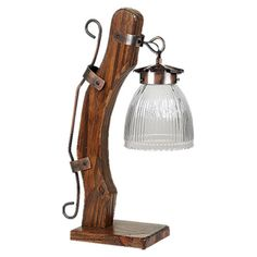 Línea Campo (Art. V-116). #Velador 1 luz madera con tulipa de 13 cm de diametro, transparente. De la empresa de #iluminación Ferrolux > http://www.iluminacion.net/index/ampliado.asp?articulo=campo_v_116&ID_Producto=7487 #Decoración