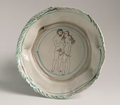 Clay Plates, Ceramic Plates, Ceramic Pottery, Pottery Art, Pottery Sculpture, Sculpture Clay, Adam And Eve, Contemporary Ceramics, Pottery Painting