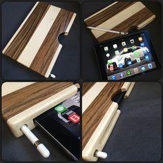 iPad Pro mit Apple Pencil Hülle. Aus Mutenye und Ahorn. Made by Benedikt Grundgeiger (GTN Design)#ipadpro #apple #applepencil #ipad #holz #design #tischler