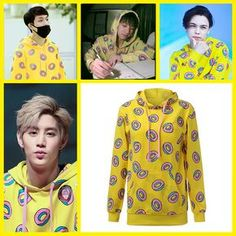 GOT7 Mark Yellow Donut Sweater Hoodie - Fashion Clothing