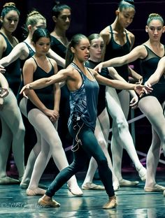 Don't tell Misty Copeland you can't go home again. She did just that, with the Misty Copeland Square Dedication and teaching a Master Ballet Class to benefit the Outreach Program of her home school, the San Pedro Ballet School. Shall We Dance, Lets Dance, Ballet Class, Ballet Dancers, Black Dancers, La Bayadere, Ballet Images, Black Ballerina, American Ballet Theatre