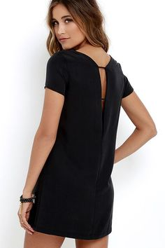 35c0c1501923 MUMBAI THE WAY WASHED BLACK SHIFT DRESS Cool Silhouettes, Club Dresses,  Grad Dresses,