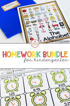 A year's worth of homework in ONE bundle. Aligned with kindergarten standards and calendars, this bundle saves you time. No more searching for homework activities. This bundle includes practice on sight words, shapes, writing, counting and much more! #homework #kindergarten Kindergarten Homework, Kindergarten Lesson Plans, Kindergarten Classroom, Kindergarten Activities, School Classroom, Learning Activities, Teaching Ideas, Homework Organization, Organizing Labels