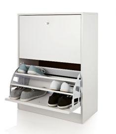 Wonderful Howards Storage World L 2 Drawer Shoe Cabinet White