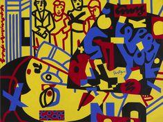 Stuart Davis Tropes de Teens, 1956 Oil on canvas