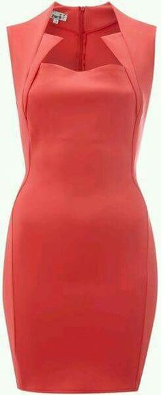 Dress with cut out neck line