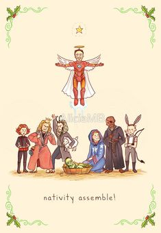 Celebrate Christmas the Geeky Way with These Cute Cards : nativity assemble!
