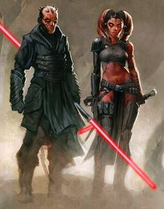 """"""" Concept art for a cancelled Darth Maul video game featuring Darth Talon [More information here] UPDATED """""""