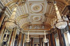 Buckingham Palace ceiling of the Banqueting  hall