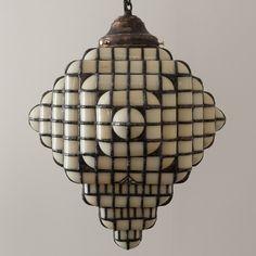 Extended Cube Hanging Lamp by Adam Kurtzman – Blackman Cruz Overhead Lighting, Home Lighting, Lighting Ideas, Slumped Glass, House Lamp, Kitchen Lighting Fixtures, Light Fixtures, I Love Lamp, Bathroom Sconces