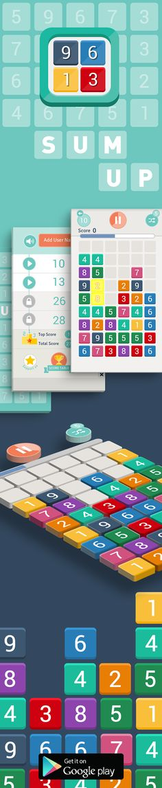 Sum Up Game  Designed by Neslihan GÖKÇE, Sum Up is a pleasantly addictive, easy…