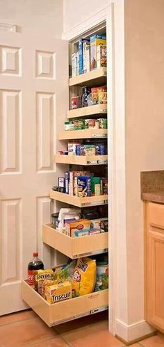 drawers in a deep cabinet or pantry (like I had installed in Hoboken)