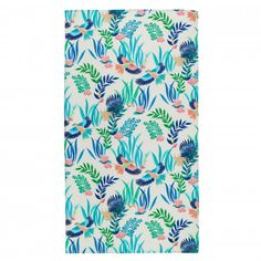 Add tropical vibes to your holiday and be the envy of everyone around the pool with the Allegoria Beach Towel from Descamps. With vibrant colourful flowers and tropical birds, the beach towel will keep you dry with the cotton 380 gsm material. Soap Dispensers, Tropical Birds, Bathroom Towels, Colorful Flowers, Luxury Bedding, Beach Towel, Home Accessories, Floral, Galeries Lafayette