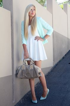 Love white and mint