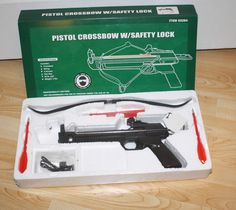 Pistol Crossbow  25 lb 4 Bolts / Arrows  with Safety Lock   Sporting Goods, Outdoor Sports, Archery   eBay!