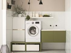 Mobile lavanderia per lavatrice By ARBLU Stacked Washer Dryer, Washer And Dryer, Laundry Room Design, Washing Machine, Home Appliances, House Appliances, Washing And Drying Machine, Appliances