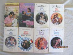 SARA WOOD – HARLEQUIN ROMANCES BOOK- LOT OF 8 PAPERBACK BOOKS – Combine Ship/