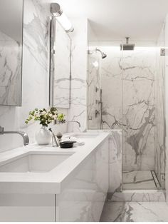 Beyaz Mermer Banyo Modelleri 2017 - Kadın ve Trend - Moda , Güzellik , ve Sağlık Blogu