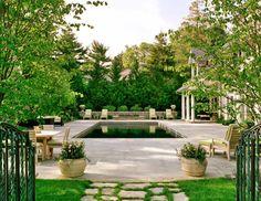 Pool and terrace by landscape architect Renée Byers via Design Darling