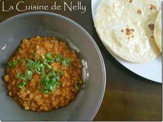 Dahl de lentilles Corail et Naans Naan, Chana Masala, Ethnic Recipes, Food, Indian Recipes, Cooking Recipes, Essen, Meals, Yemek