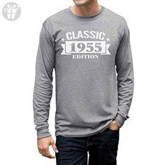 Classic 1955 Edition - Funny 62nd Birthday Gift Idea Long Sleeve T-Shirt Large Gray - Birthday shirts (*Amazon Partner-Link)