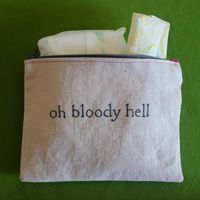 "Indiscreet ""oh bloody hell"" Zip Pouch. self explanatory."