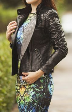 Python leather jacket by ADAMOFUR #python #leatherjacket #inspiration…