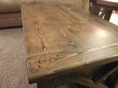 Rustic X Coffee Table with Drawers  #breadboardends #bulky #coffeetable #Distressed #drawers #durable #heavyduty #LivingRoom #livingtable #Mattefinish #rustic #rusticcoffeetable #table:separator: