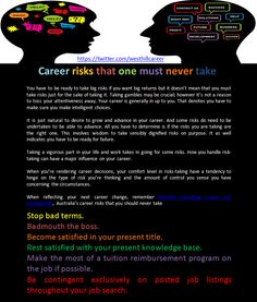 Career risks that one must never take