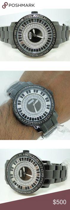 Nice men's 2.25 carat black & white diamond watch Nice men's 2.25 carat black & white diamond watch Accessories Watches