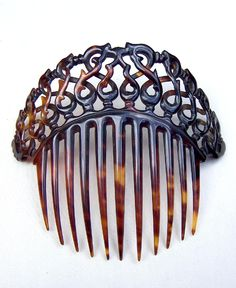 Victorian Faux Tortoiseshell Hair Comb Coronet Style Hair Accessory from spanishcomb on Ruby Lane